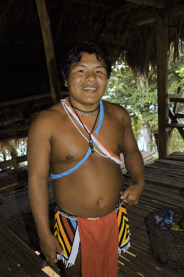 Emberá village chief of the Parara Puru of Panama