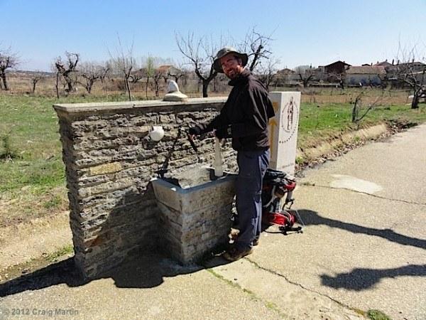 Craig at the fountain