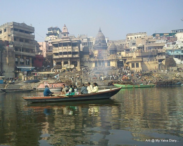 The main burning ghat