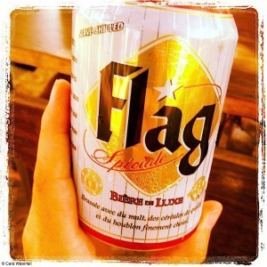 Flag beer in the Ivory Coast