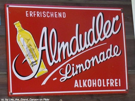 Almdudler sign Austria