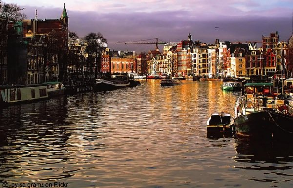 Amsterdam from the canal by gramz on Flickr
