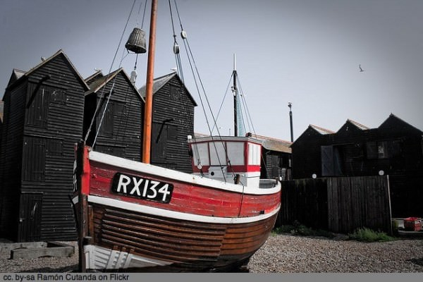 Boat in Hastings UK by Ramón Cutanda