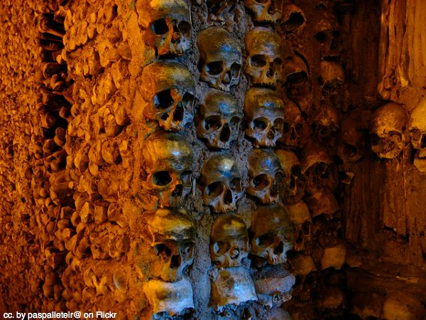 Bone chapel in Evora, Portugal