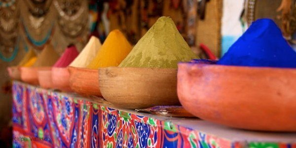 Colorful Dyes - Aswan, Egypt