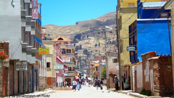Copacobana town view Bolivia by ydnammmm on Flickr