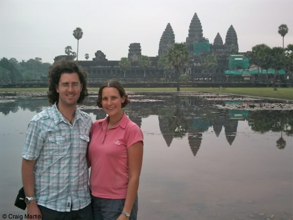 Craig and Linda at Angkor Wat, Cambodia