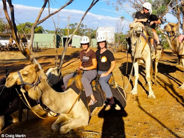 Craig and Linda on a camel