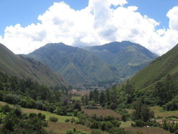 Looking down the Sacred Valley, Peru