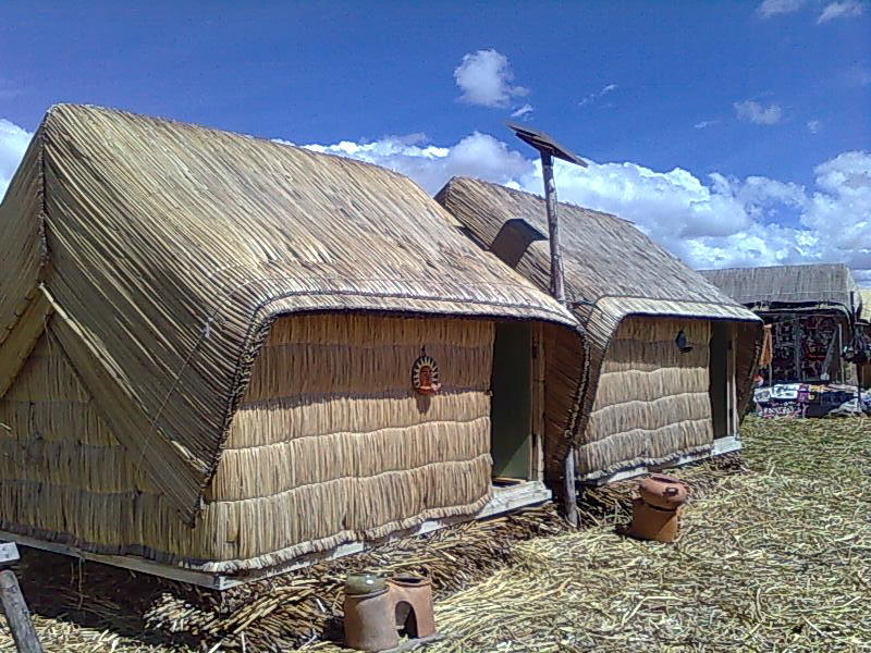 Uros houses on Lake Titicaca