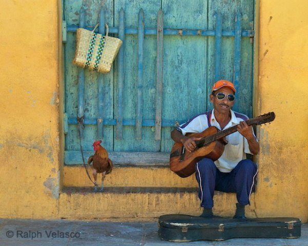 Musician with Rooster - Trinidad, Cuba