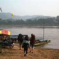 The Thailand-Laos border crossing