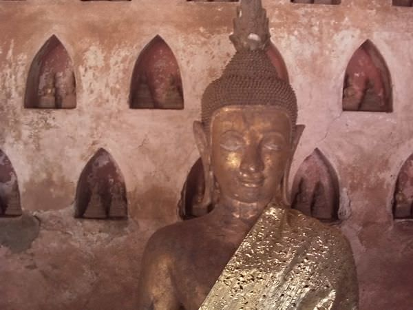 There are over 2,000 Buddha images in this temple. We found it using the Travelfish Vientienne app