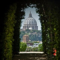 Knights of Malta Keyhole, St. Peter's Dome, Rome, Italy