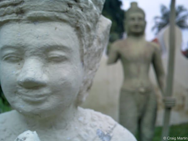 The statues of the Royal Palace, Phnom Penh