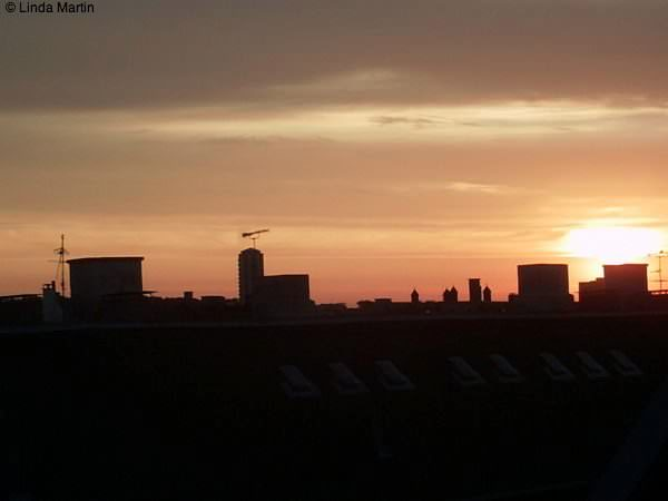 Sunset over Copenhagen denmark