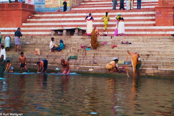 Washing in the Ganges, Varanasi India