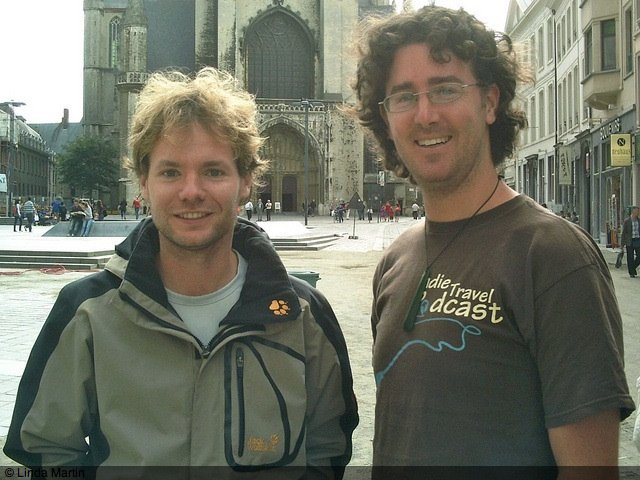 Tom and Craig in Ghent, Belgium
