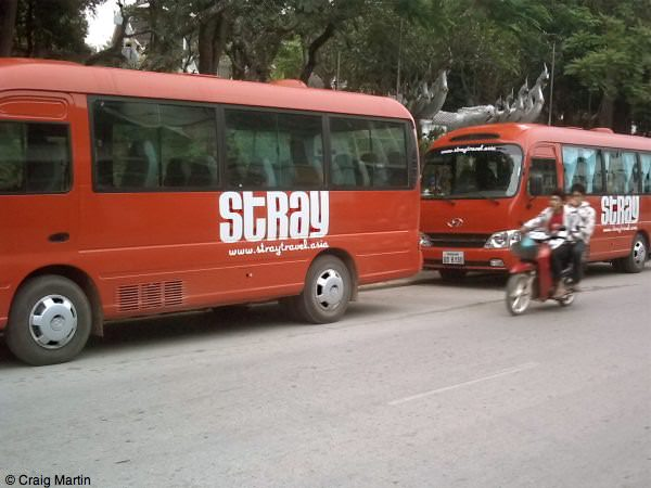 Two Stray buses in Luang Prabang, Laos