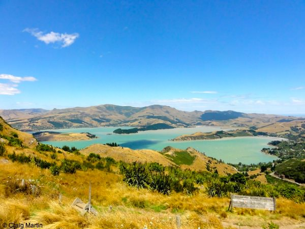 View from the Port Hills, Canterbury New Zealand