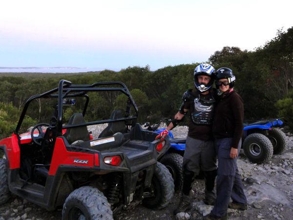 Quad biking at KI Outdoor Action, Vivonne Bay, Kangaroo Island