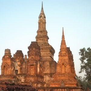 a ruined wat at sukhothai thailand - thailand travel information