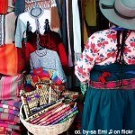 boliviana woman and her wares; market in bolivia