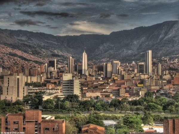 city of medellin skyline colombia