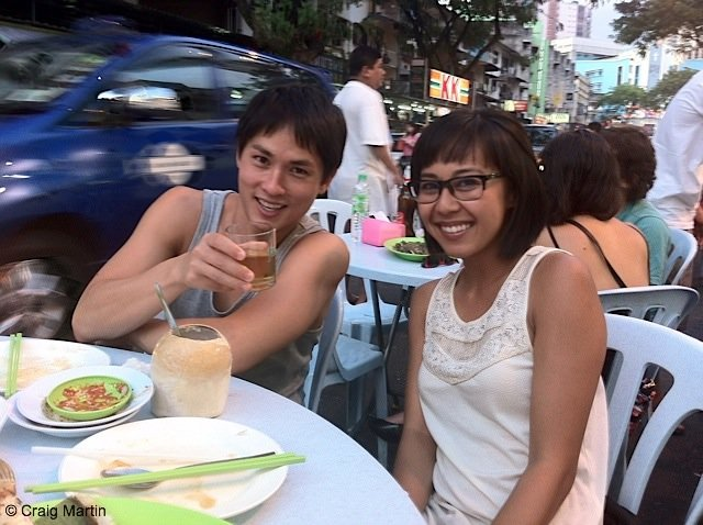 Gerard and Kieu in Jalan Alor