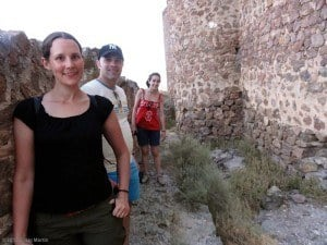 Linda, Mauri and Oliva at the Almonacid castle