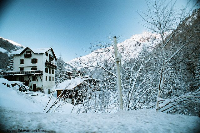 house in the snow - beautiful chamonix