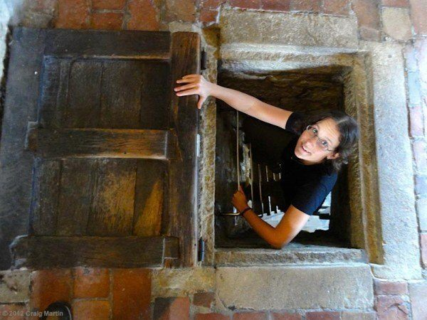 Linda in the tower.
