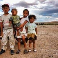 Mongol Rally 2011 - Mongolian kids on the dusty road