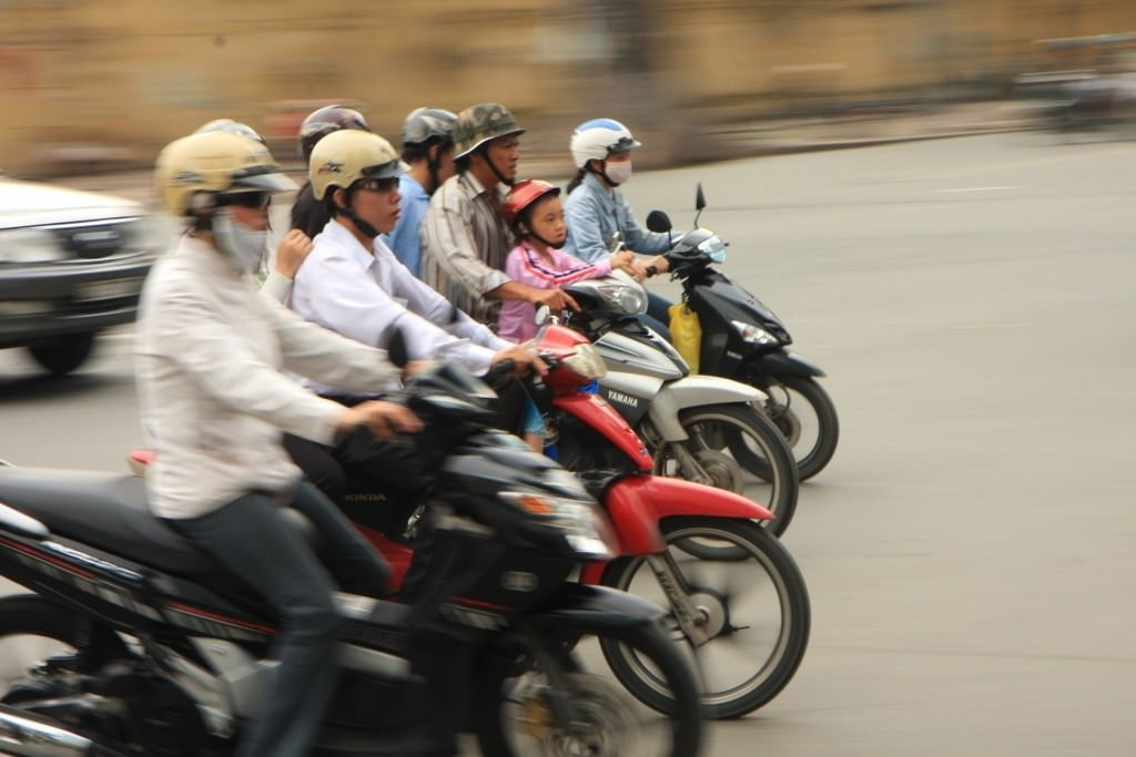 Motorbike traffic - free audio guide to Saigon