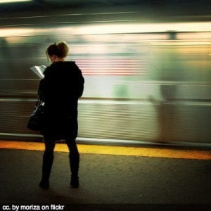 Waiting for the subway, New York City travel