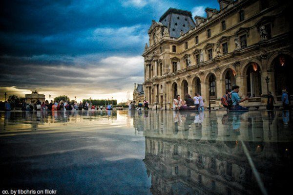 paris, france travel - reflections at the louvre