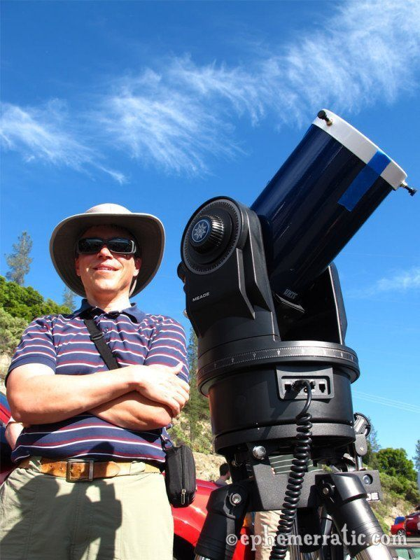 Mark, amateur astronomer at 2012 solar annular eclipse photo