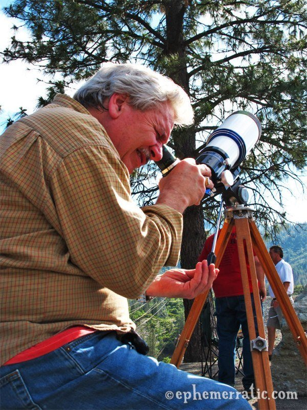 Watching the 2012 solar eclipse in California photo