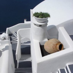 stairs over the sea square - greece travel information