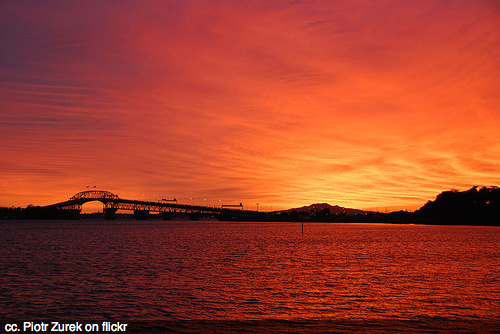 sunrise-auckland-harbour-bridge