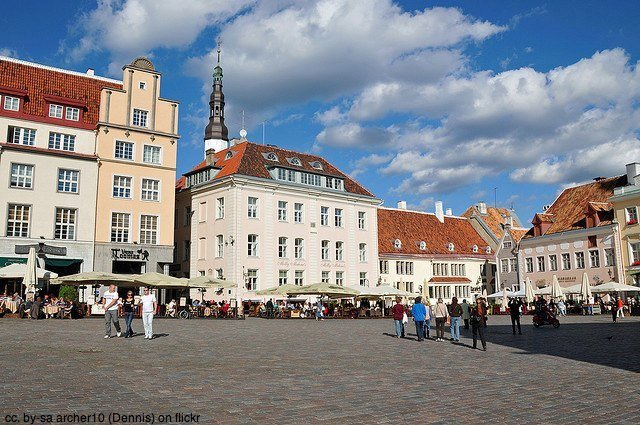 tallinn town square, estonia