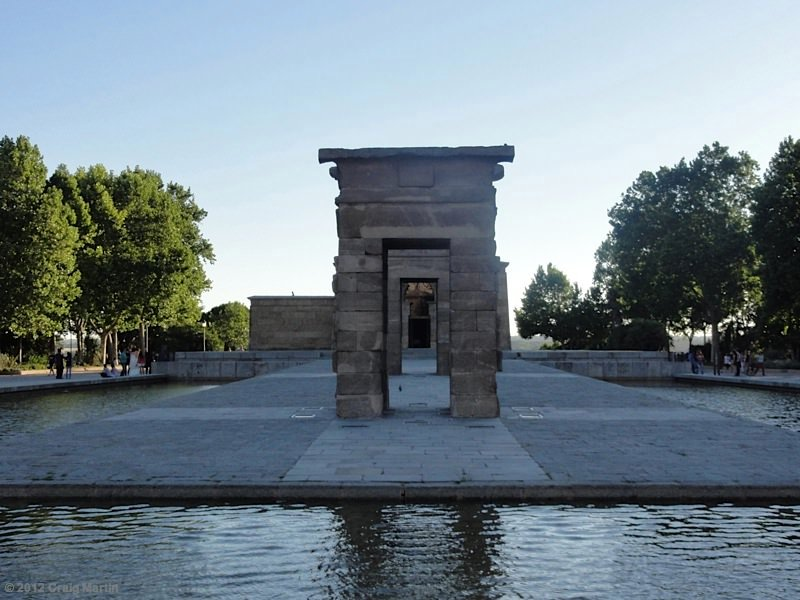 The Debod temple.